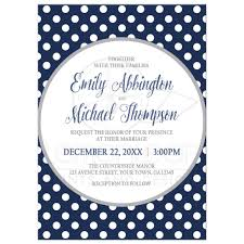Polka Dot Invitations Wedding Invitations Gray Navy Blue Polka Dot