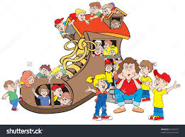 Image result for cartoon mom with kids