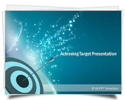 Pptx Themes Powerpoint Achieving Target Template