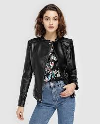 fórmula joven women s multi zip biker jacket