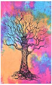 hippie mandala tapestry poster tree of
