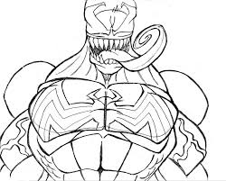 Printable Venom Coloring Pages | Comic Book Coloring Pages ...