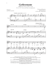 gethsemane sheet music gethsemane with the power of the cross satb j w pepper sheet music
