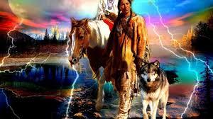 native american wolf wallpaper.  American 1024x768  On Native American Wolf Wallpaper