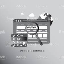 ドメイン名の登録コンセプト イラスト Comのベクターアート素材や画像
