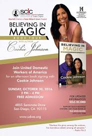book signing flyer past appearances cookie johnson