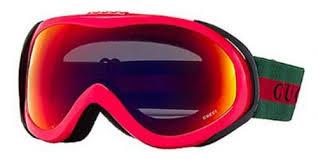 gucci goggles. gucci goggles 1653 8ek rose visor lens mirrored size medium