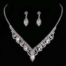 kalaixing pearl necklace bride diamond jewelry sets necklace earrings diamond water droplets elegant women jewellery set of crystal pendant necklace