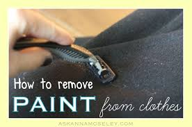 this is a very simple tip for how to get paint off clothes all you ll need is your painted clothes and a razor blade yep that s all