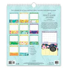 2018 petal light pockets more wall calendar