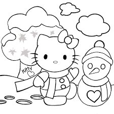 Small Picture Hello Kitty Coloring Pages For Kids Xmas Christmas Coloring