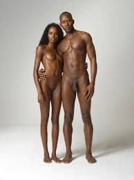 Black couple nude models