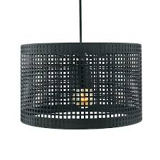 black and white ceiling light shade metal lamp hanging with cube pattern matt pendant