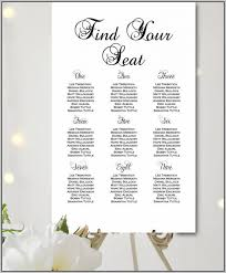 wedding guest seating chart template wedding reception table seating chart template template resume