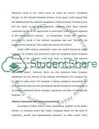 reviewing company s mission statements research paper text