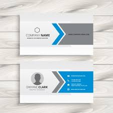Free Design Business Cards Blue And Grey Business Card Design Vector Free Download