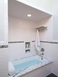 tile tub bathroom mid sized traditional master subway tile and white tile porcelain floor and gray tile tub