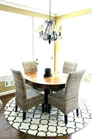 what shape area rug under oval dining table round for kitchen best room rugs
