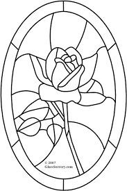 beauty and the beast rose stained glass pattern