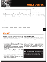 Mueller Color Chart Product Description Storage Mueller U Panel User Manual
