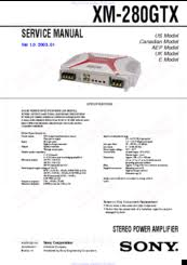 sony xm 280gtx marketing specifications manuals sony xplod 222w amplifier manual at Manual Sony Xplod Amp