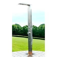 stainless steel outdoor shower with massage marine grade head h
