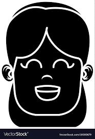 Cute Girl Face Vector Image