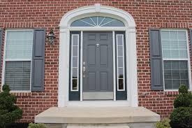 grey front doorGI grey front doorshutters match  RiversColorworksDesign