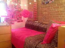 Seventeen Bedroom Dorm Room Pink Cheetah Bright Lights Awesome Ideas
