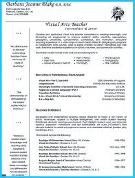 Template Secondary English Teacher And Art Resume Example With