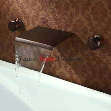 antique oil rubbed bronze finish wall mounted waterfall bathroom sink faucets
