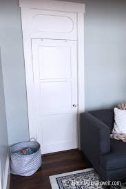 here is the closet in steffany s living room she was using it for some storage but decided transforming it into a functional office space would be a more