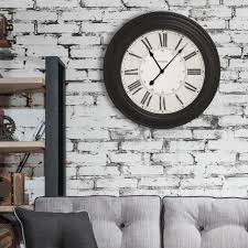 westclox 24 in classic black oversized wall clock