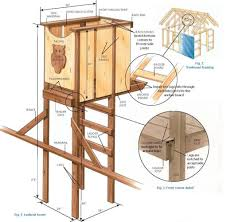 Simple Treehouse Plans Building Tree House Free For Freestanding