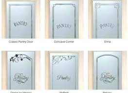 etched glass pantry door more frosted doors kitchen pan