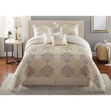 Mainstays Piece Damask Bedding Comforter Set Walmart And Queen Pics With  Marvelous Of Damask Bedding Set ...