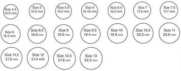 Online Ring Size Chart For Men Women Find Your True Ring