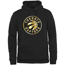 Men's Raptors Gold Fanatics Branded Toronto Package Hoodie Pullover Black