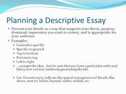 description a mode ppt video online  planning a descriptive essay