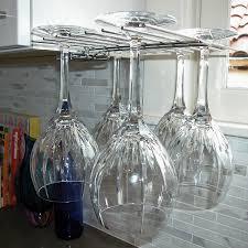 Wine Glass Hangers Under Cabinet Glass Hanger Wine Glass Drying Rack Wine Enthusiast