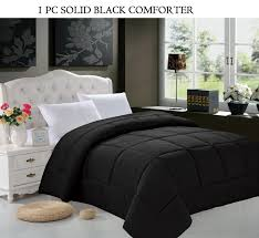down alternative comforter duvet cover insert twin twin xl size black luxury ultra soft hi loft down alternative comforter all year round