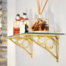 brass simple scroll glass shelf bracket brass brackets solid brass brackets shelf brackets hanging basket brackets cast in style