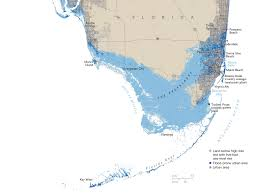 treading water  map florida in   national geographic magazine
