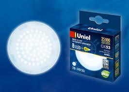 <b>Лампа</b> светодиодная <b>LED</b>-<b>GX53</b>-<b>8W</b>/<b>6500K</b>/<b>GX53</b>/<b>FR</b> PLZ01WH ...