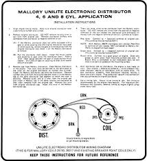 hei distributor wiring diagram ford images mallory unilite ignition wiring diagram car tuning