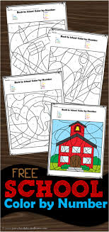 Color by number worksheet is an excellent way to teach your child number recognition. Free Back To School Color By Number