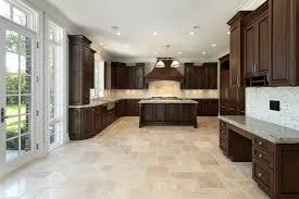Kitchen Tile Floor Kitchen Floor Tiles With Light Cabinets Huotaimi