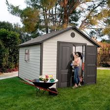 lifetime 11 ft x 13 5 ft outdoor storage shed building rc willey furniture
