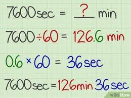 How To Convert Seconds To Minutes 6 Steps With Pictures