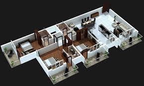 3 bedroom house plans 3d design 4